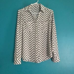 Express portofino shirt chevron print dress shirt